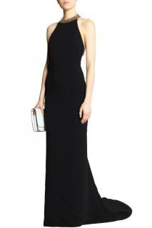 Stella McCartney black halterneck stretch-crepe gown