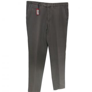 Isaia Khaki Men's Chinos