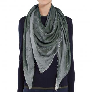 Mulberry Tamara Square Cotton Scarf in Grey