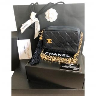 Chanel Navy Vintage Lambskin Camera Bag