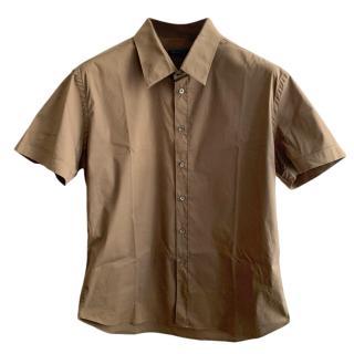 Prada Men's brown Tailored Shirt