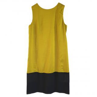 Balenciaga chartreuse georgette shift dress