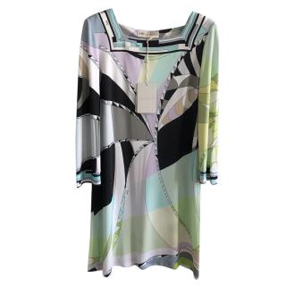 Emilio Pucci Pastel Printed Shift Dress