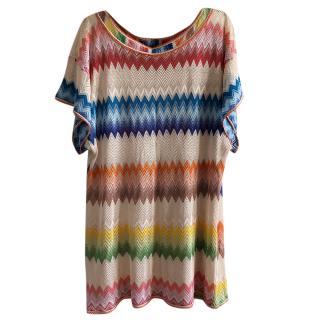 Missoni Multi-Coloured Zigzag Knit Cover-Up