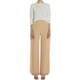 Palmer Harding Blush Layered Silk Blend Trousers