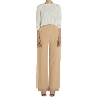 Palmer Harding Blush Layered Silk Blend Trousers