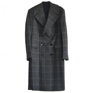 Ralph Lauren Purple Label plaid double-breasted cashmere coat