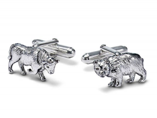 Tiffany & Co bull and bear silver cufflinks