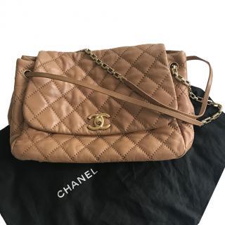 Chanel XL Tan Maxi Flap Bag