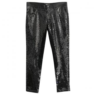 Junya Watanbe Stretch Sequin Cropped Pants