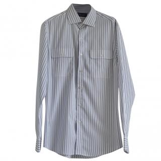 Ralph Lauren Purple Label striped cotton shirt