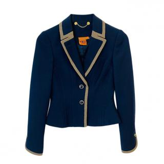 Tory Burch Navy Single Breasted Jacket