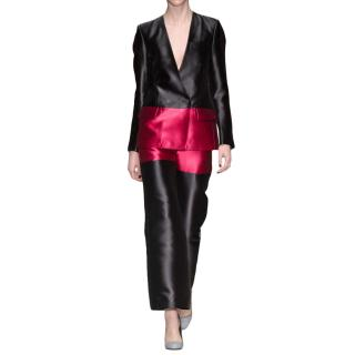 Eudon Choi The Denyse cropped flare trouser in magenta/black