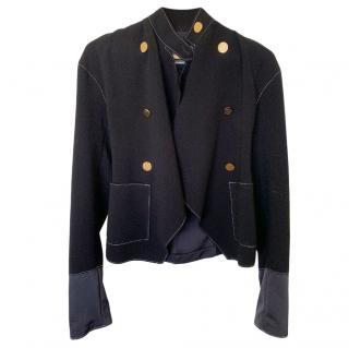 Loewe Navy Silk Tailored Jacket
