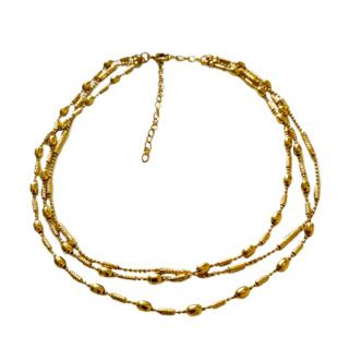 Sarah and Sebastian Gold Tone Wrap Necklace