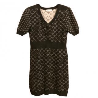 See by Chloe Black Heart Knit Dress