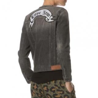 Zadig & Volatire Grey Embroidered Denim Jacket