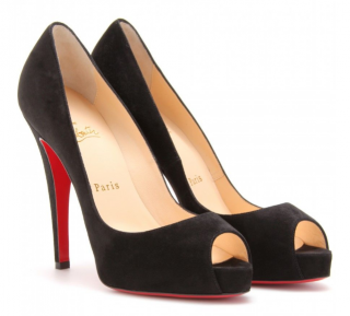 Christian Louboutin Black Suede New Very Prive 120 Pumps