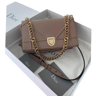 Dior Old Rose Diorama Leather Bag