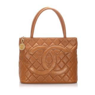Chanel Lambskin Medallion Tote Bag