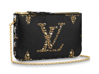 Louis Vuitton Jungle Giant Monogram Pochette Double Zip