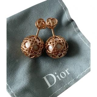 Dior Rose Gold Secret Cannage Earrings