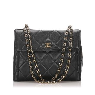 Chanel Caviar Leather Vintage Tote Bag