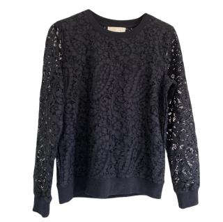 Michael Michael Kors Black Lace Sweatshirt