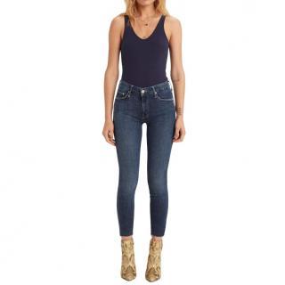 Mother Blue Stretch Denim Jeans
