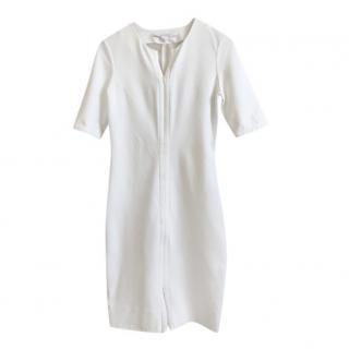 Diane Von Furstenberg pointe knit white dress