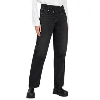 AGOLDE Criss Cross faded black straight-leg jeans