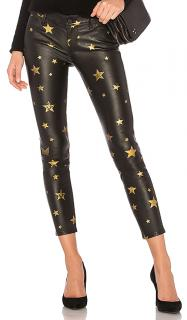 RTA Star Print Prince Leather Pants