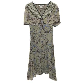 Chloe Silk Paisley Print Dress
