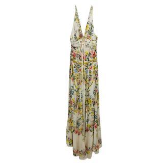 Roberto Cavalli Silk Floral Print Maxi Dress