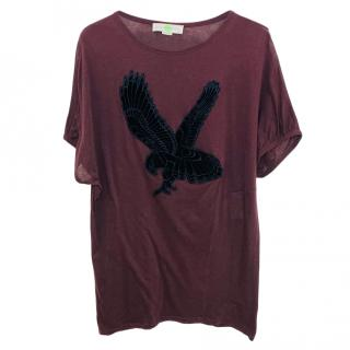 Stella McCartney Maroon Eagle Print Dress