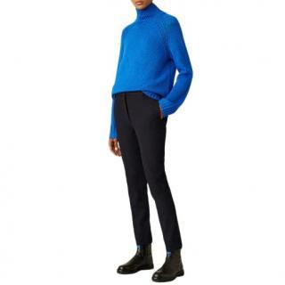 Joseph Navy Zoom Gabardine Stretch Trousers