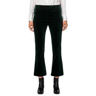 Frame Spruce Green Velvet Crop Mini Boot Pant