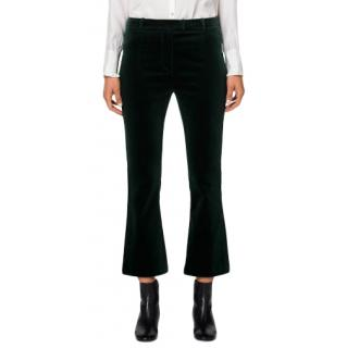 Frame Spruce Green Velvet Crop Mini Boot Pant