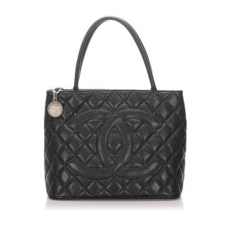 Chanel Caviar Medallion Tote Bag