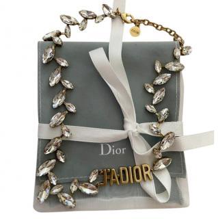 Christian Dior Jadior Dior Brass/crystal choker necklace