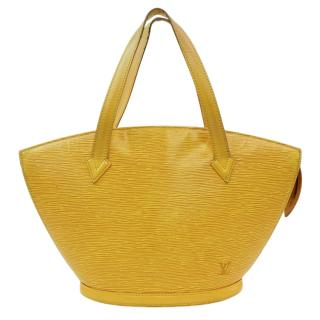 Louis Vuitton Yellow Epi Saint Jacques Top Handle Bag