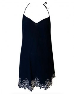 La Perla Silk Embroidered Mini Dress