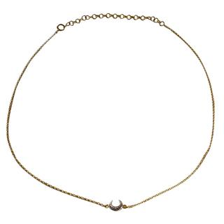 Thomas Sabo Crescent Moon Pendant Necklace