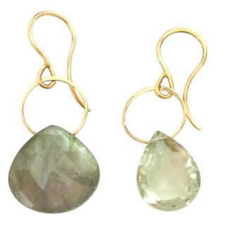 Melissa Joy Manning Labradorite & Prasiolite Drop Earrings