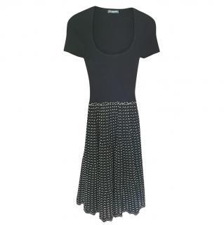 Alexander McQueen Black & White Knit Dress