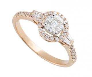Bespoke Rose Gold 0.54ct Diamond Cluster Ring