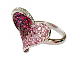Chopard 18K White Gold Ring with Sapphires & Rubies