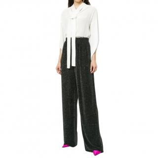 Balenciaga Metallic Wide Leg Trousers