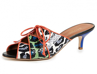 Malone Souliers Lima Sandals with Leather & Snakeskin