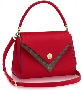 Louis Vuitton Rubis/Monogram Double V Convertible Tote Bag